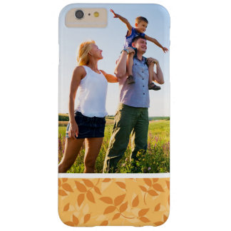 Custom Photo Pattern with autumn leaves Barely There iPhone 6 Plus Case