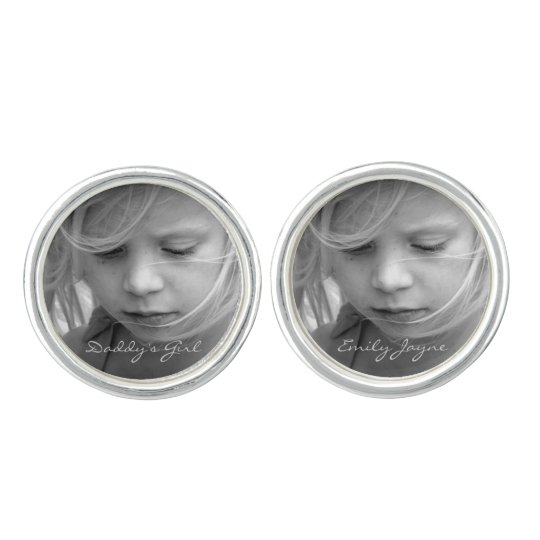 Custom photo personalised daddy's girl cufflinks