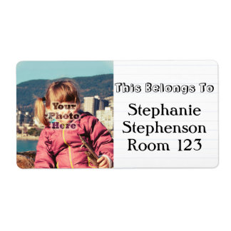 Custom Photo Personalized Name School Bookplate Shipping Label