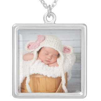 Custom Photo Personalized Silver Plated Necklace