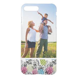 Custom Photo Pineapple Grunge Palms iPhone 8 Plus/7 Plus Case
