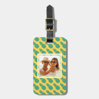 Custom Photo Pineapple Pattern Luggage Tag