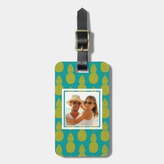 Custom Photo Pineapple Tropical Fruit Luggage Tag
