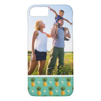 Custom Photo Pineapples On Geometric Pattern iPhone 8/7 Case