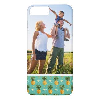 Custom Photo Pineapples On Geometric Pattern iPhone 8 Plus/7 Plus Case