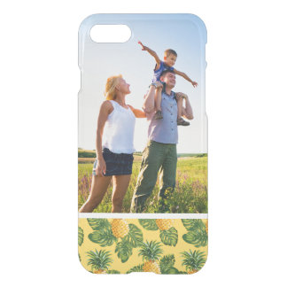 Custom Photo Pineapples & Tropical Leaves On Gold iPhone 8/7 Case