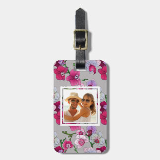 Custom Photo Pink Orchids In Bloom Luggage Tag