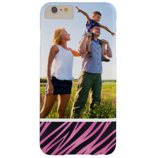 Custom Photo Pink Zebra Stripe Background Barely There iPhone 6 Plus Case