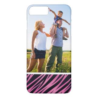 Custom Photo Pink Zebra Stripe Background iPhone 8 Plus/7 Plus Case