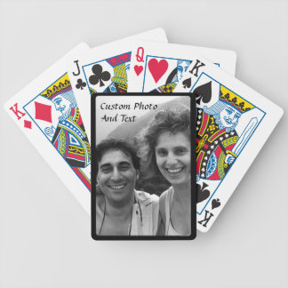 Custom Photo Playing Cards Black Frame