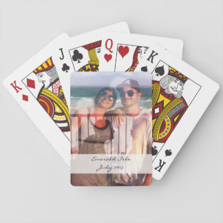 Custom photo playing cards - personalise
