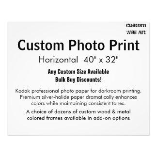 "Custom Photo Print - Horizontal 40"" x 32"""