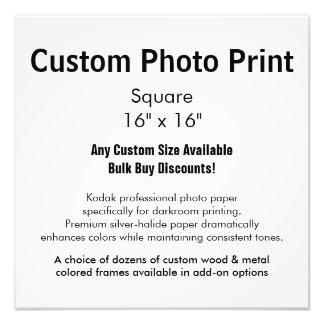 "Custom Photo Print - Square 16"" x 16"""
