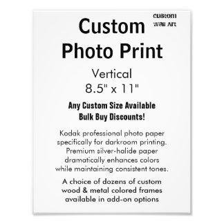 "Custom Photo Print - Vertical 8.5"" x 11"""