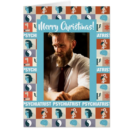 Custom Photo Psychiatrist Merry Christmas Card