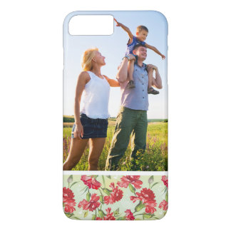 Custom Photo Red Carnations & butterflies iPhone 8 Plus/7 Plus Case