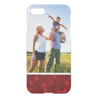 Custom Photo Red maple leaves pattern iPhone 8/7 Case