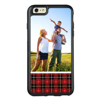 Custom Photo Red Plaid Background OtterBox iPhone 6/6s Plus Case