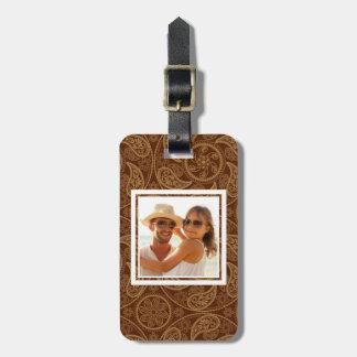 Custom Photo Retro mandala pattern Luggage Tag