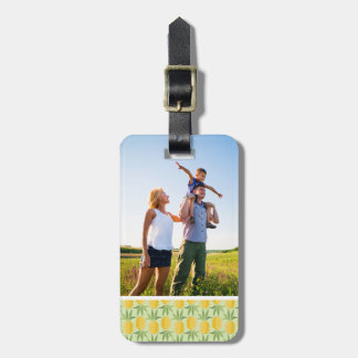 Custom Photo Retro Pineapples Luggage Tag