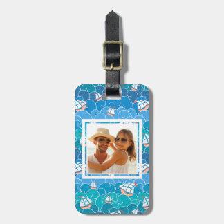 Custom Photo Rocky Sea Pattern Luggage Tag