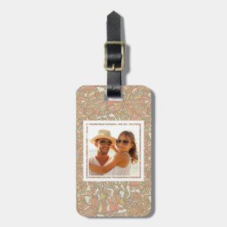 Custom Photo Romantic pattern of peony flowers Luggage Tag