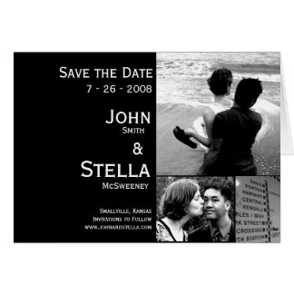 Custom Photo Save the Date Card