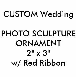 "Custom Photo Sculpture Cutout Ornament 2"" x 3"""