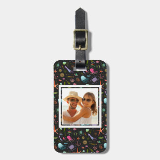 Custom Photo Sea Critters Pattern Luggage Tag