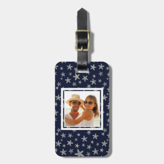 Custom Photo Sea Of Starfish Pattern Luggage Tag