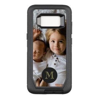 Custom Photo | Single Monogram OtterBox Defender Samsung Galaxy S8 Case