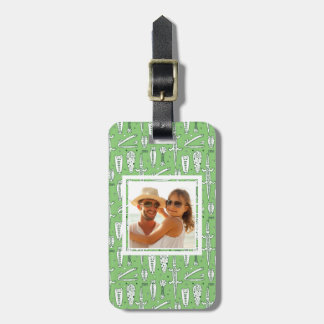 Custom Photo Sketch Crocodile Pattern Luggage Tag