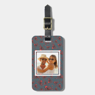 Custom Photo Sneaky Octopus Pattern Luggage Tag