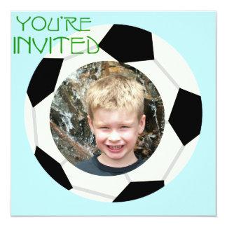 Custom Photo Soccer Party Invitation