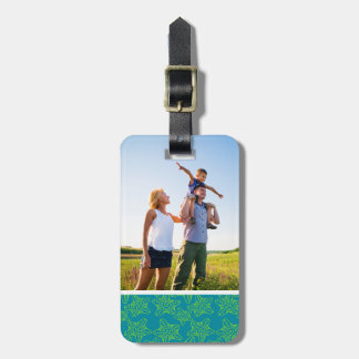 Custom Photo Starfish Crowd Pattern Luggage Tag