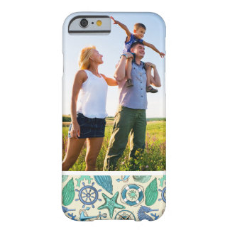 Custom Photo Teal Sea Animals Pattern Barely There iPhone 6 Case