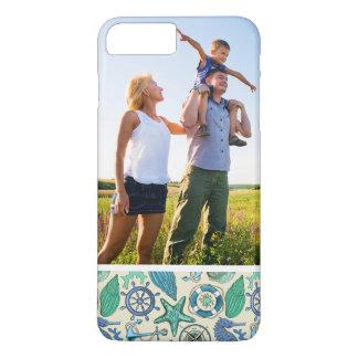 Custom Photo Teal Sea Animals Pattern iPhone 8 Plus/7 Plus Case