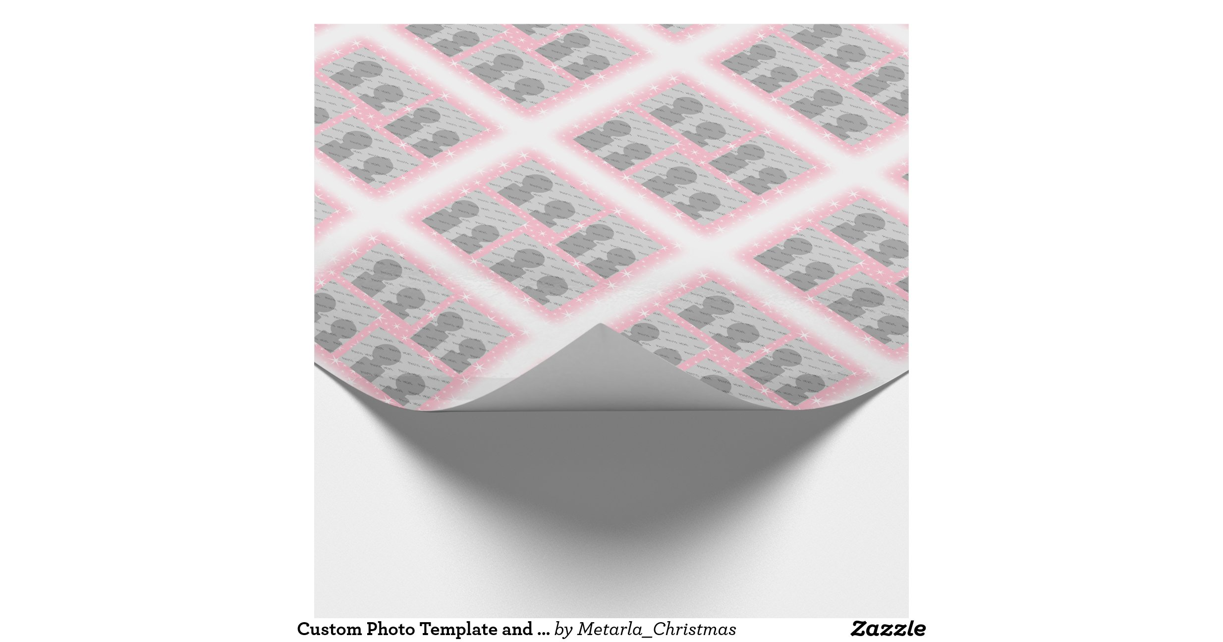 """custom photo wrapping paper Your photo personalized wrapping paper $1670 15% off with code zazzfallprep 8 bit brick wall wrapping paper $1495  custom wrapping paper """"i had a very difficult time creating this wrapping paper because i had never done it before i had no idea it would turn out as well as it did it was a gift and my friend loved it."""