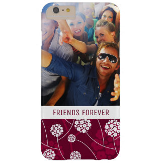 Custom Photo & Text Abstract floral pattern Barely There iPhone 6 Plus Case
