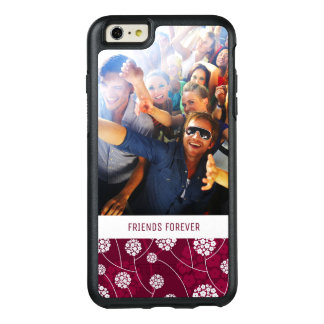 Custom Photo & Text Abstract floral pattern OtterBox iPhone 6/6s Plus Case