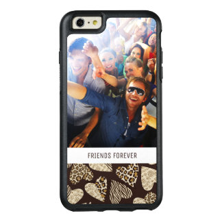 Custom Photo & Text Animal skin with hearts OtterBox iPhone 6/6s Plus Case
