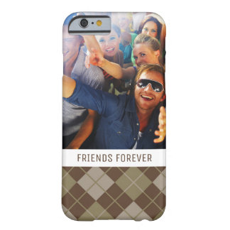 Custom Photo & Text Argyle Pattern Barely There iPhone 6 Case