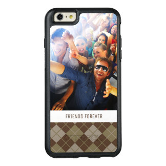 Custom Photo & Text Argyle Pattern OtterBox iPhone 6/6s Plus Case