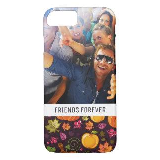 Custom Photo & Text Autumnal background iPhone 8/7 Case