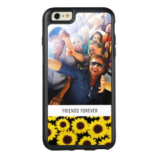 Custom Photo & Text Background with sunflowers OtterBox iPhone 6/6s Plus Case