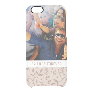 Custom Photo & Text Beige pattern Clear iPhone 6/6S Case