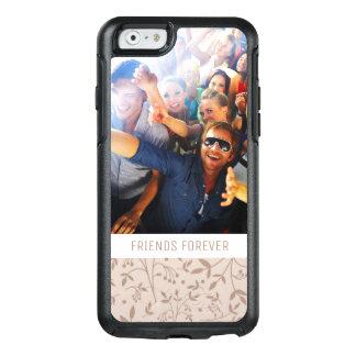 Custom Photo & Text Beige pattern OtterBox iPhone 6/6s Case