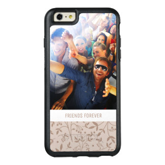 Custom Photo & Text Beige pattern OtterBox iPhone 6/6s Plus Case