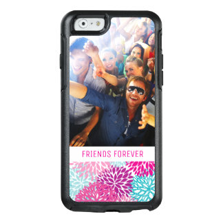 Custom Photo & Text Bright Floral pattern 2 OtterBox iPhone 6/6s Case