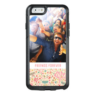 Custom Photo & Text Bright floral pattern OtterBox iPhone 6/6s Case